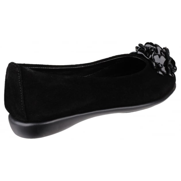 The Flexx Miss Drape Suede Black Shoes