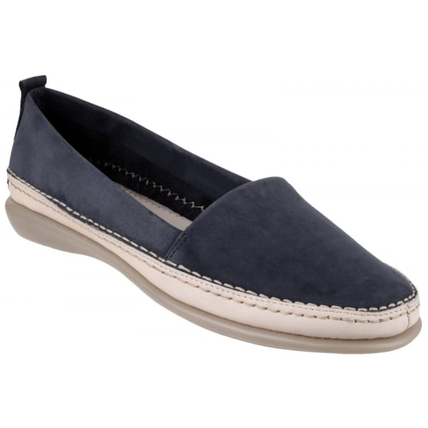 Mr Softy Nubuck Navy Shoes