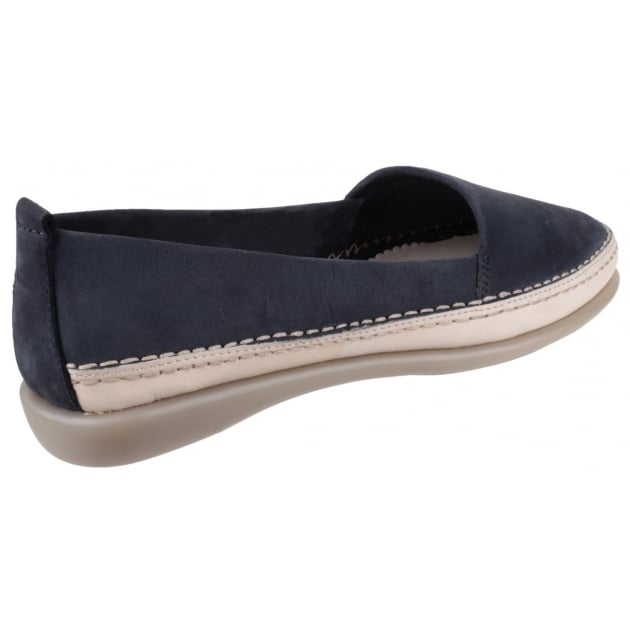 Mr Softy Nubuck Navy Shoes
