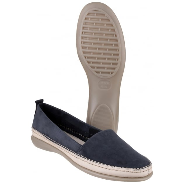 The Flexx Mr Softy Nubuck Navy Shoes