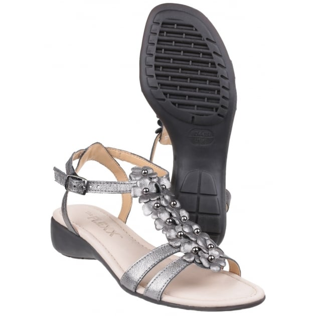 The Flexx New Gladiola Tris Piombo Sandals