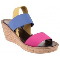 The Flexx Overstep Elastic Fuchsia Sandals