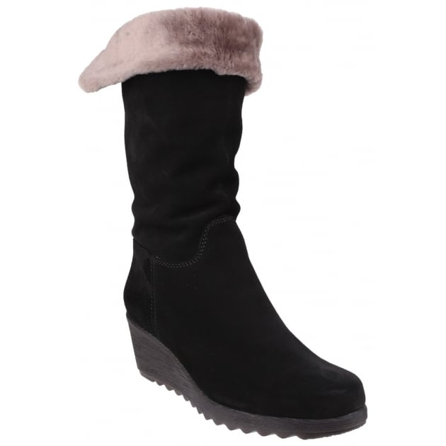 The Flexx Pick A Fur Suede Black Boots