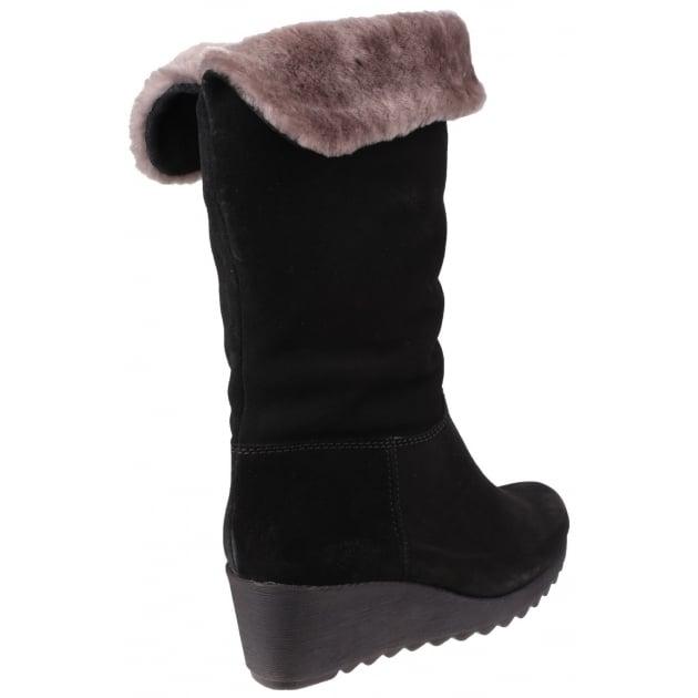 Pick A Fur Suede Black Boots