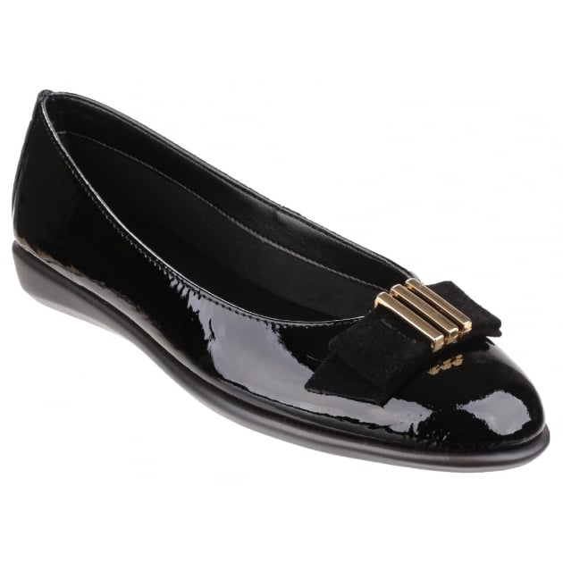Rise A Bow Lapo Black Shoes