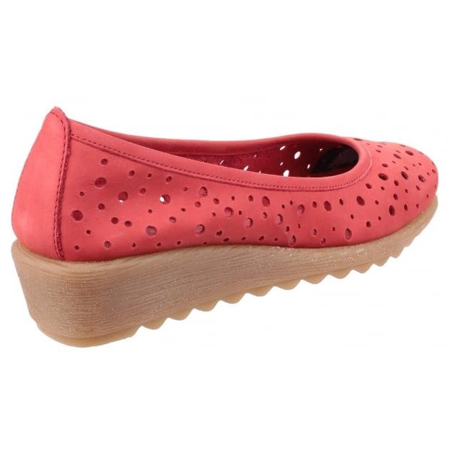 Run Perfed Nubuck Red Shoes