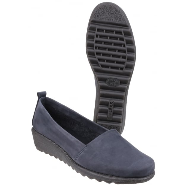 The Flexx Run Slowly Nubuck Navy Shoes