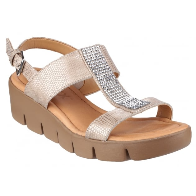 Strass Em Up Amour Platino Sandals