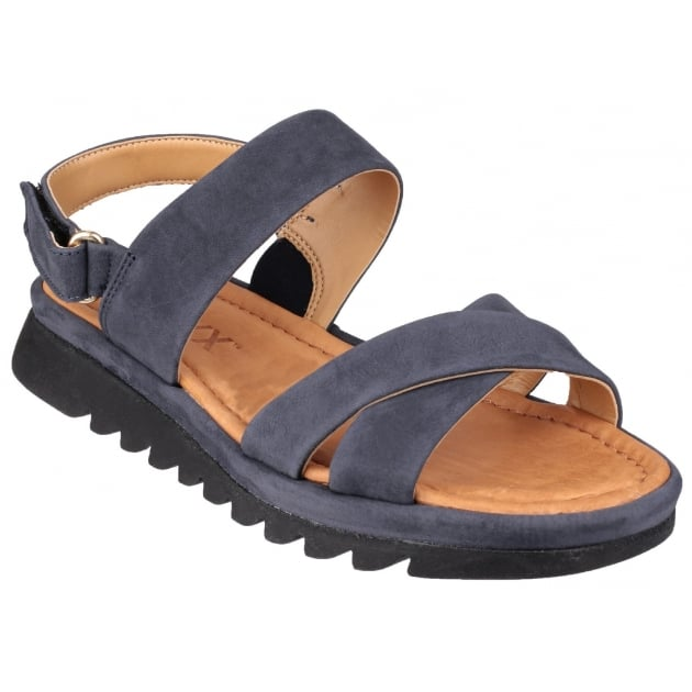 The Flexx Walk A Beat Nubuck Navy Sandals