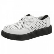 TUK Womens Viva Lo Sole Creeper Av888 White Shoes
