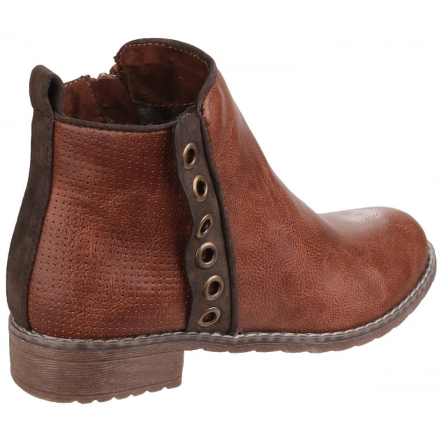 Divaz Demi Pull On Ankle Boot Tan