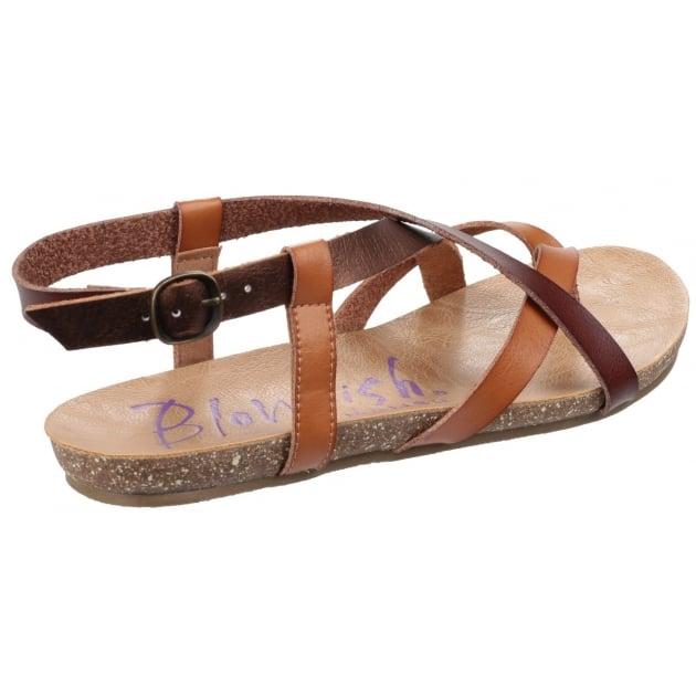 Blowfish Granola Sand Multi Leather Sandals