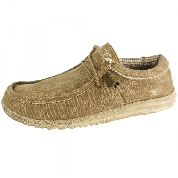 Hey Dude Wally Men's Nut Canvas - Free Delivery at Shoes.co.uk