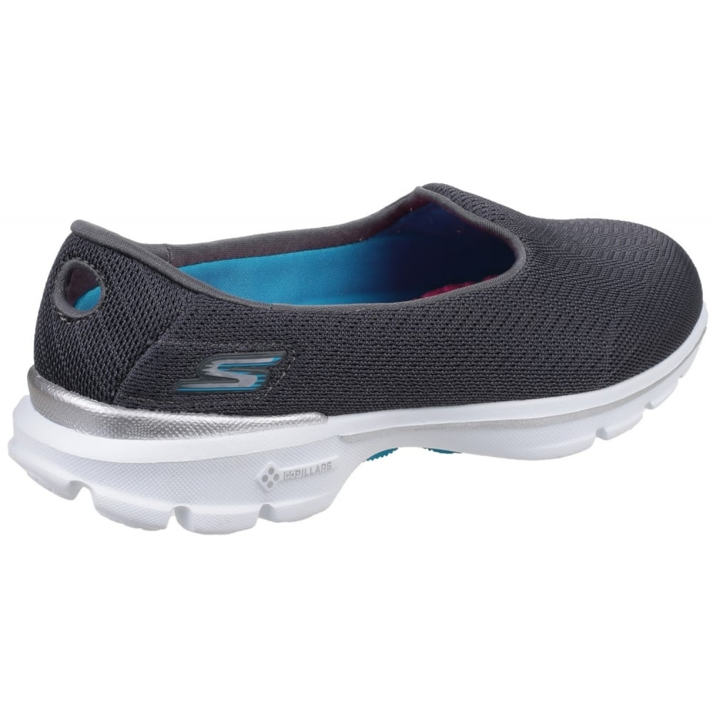 Skechers Go Walk 3 Insight Women's Charcoal Shoes - Free ...